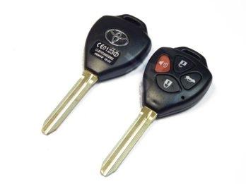 ав2544-2 _ TOYOTA TOYO15P_x_TOY43 корпус ключа 3+1 кнопки авто